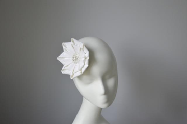 kwiat fascynator ślubny
