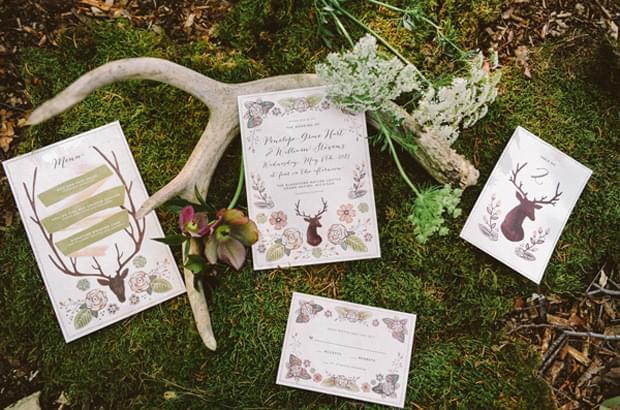 motyw ślubu i wesela las natura