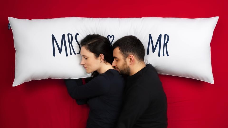 poduszka z nadrukiem dla dwojga zdjęcie