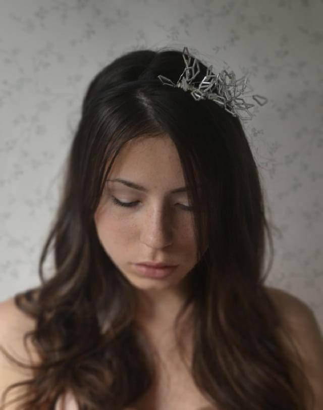 minimalistyczna opaska do włosów ślub
