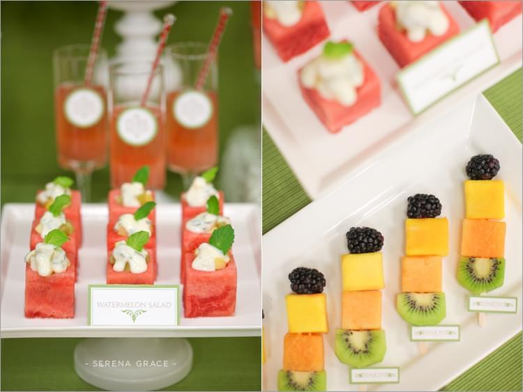 owocowy bufet stół wesele pomysły
