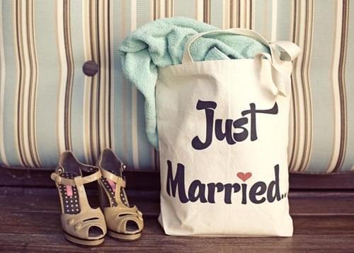 płócienna torba na ślub