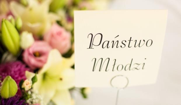 państwo młodzi tabliczka na wesele