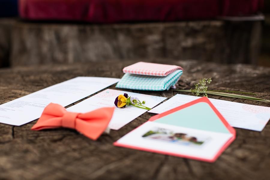 pastelowa mucha dla pana młodego zdjęcie