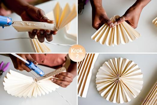 papierowe rozety zrób to sam pomysł inspiracje dekoracje diy ślubne
