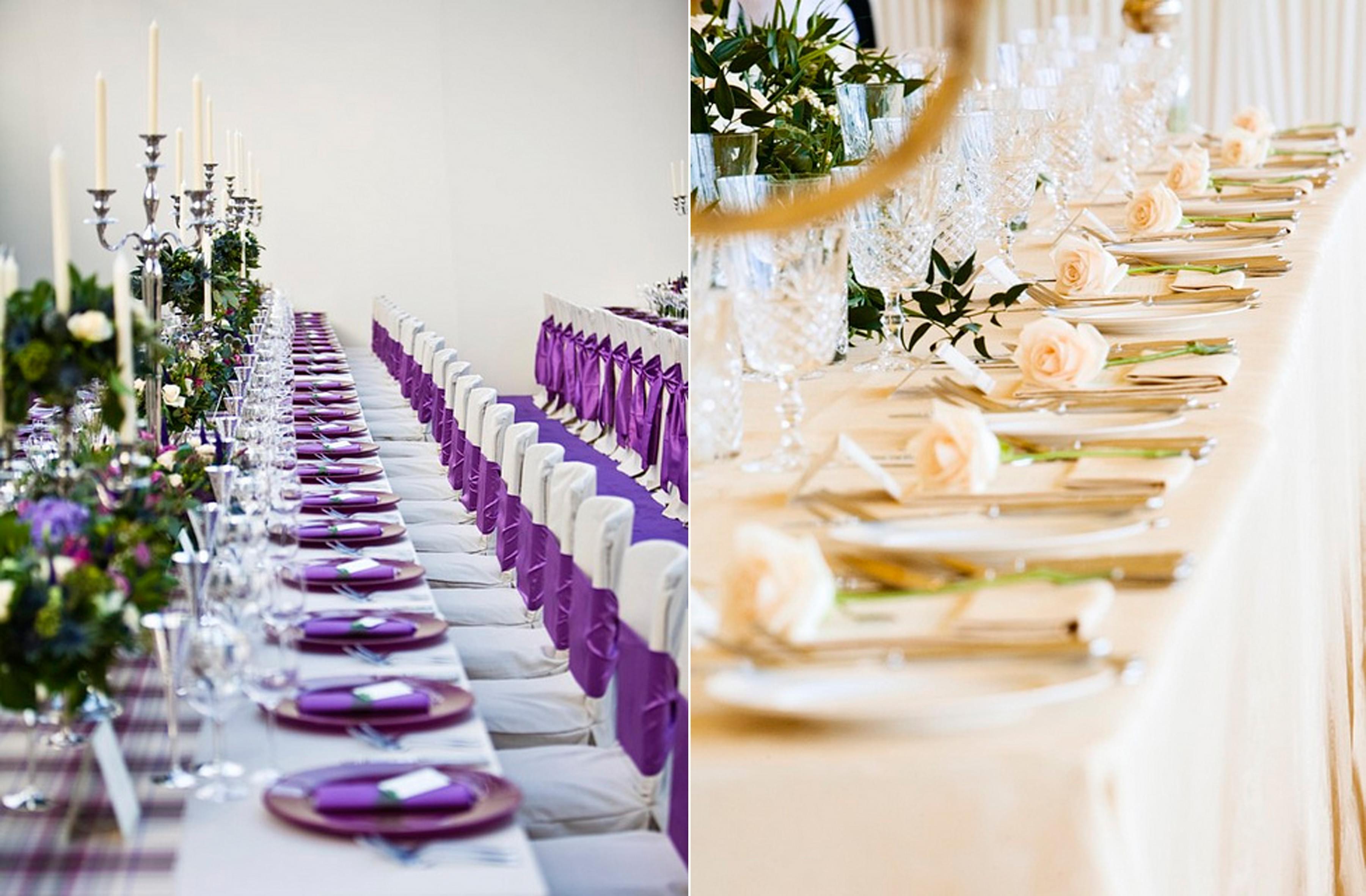 piekne zastawy stolowe kolorowe wesele slub 2013 2014