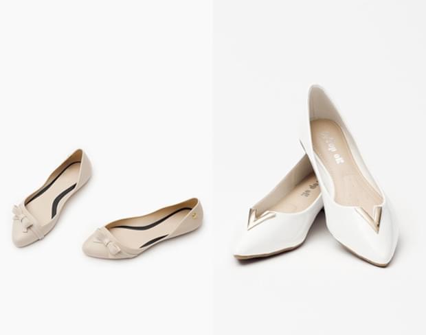 plaskie buty slubne