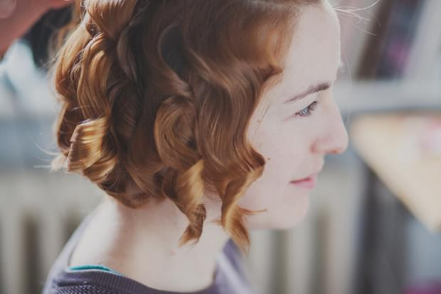 fryzura panny młodej loki zdjęcie