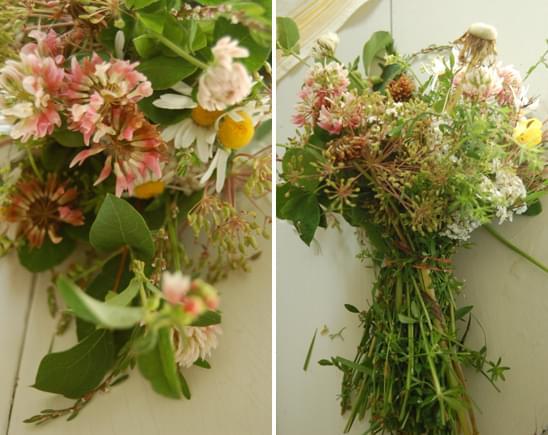 wiązanka z polnych dzikich kwiatów