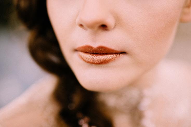 szminka kolor miedziany