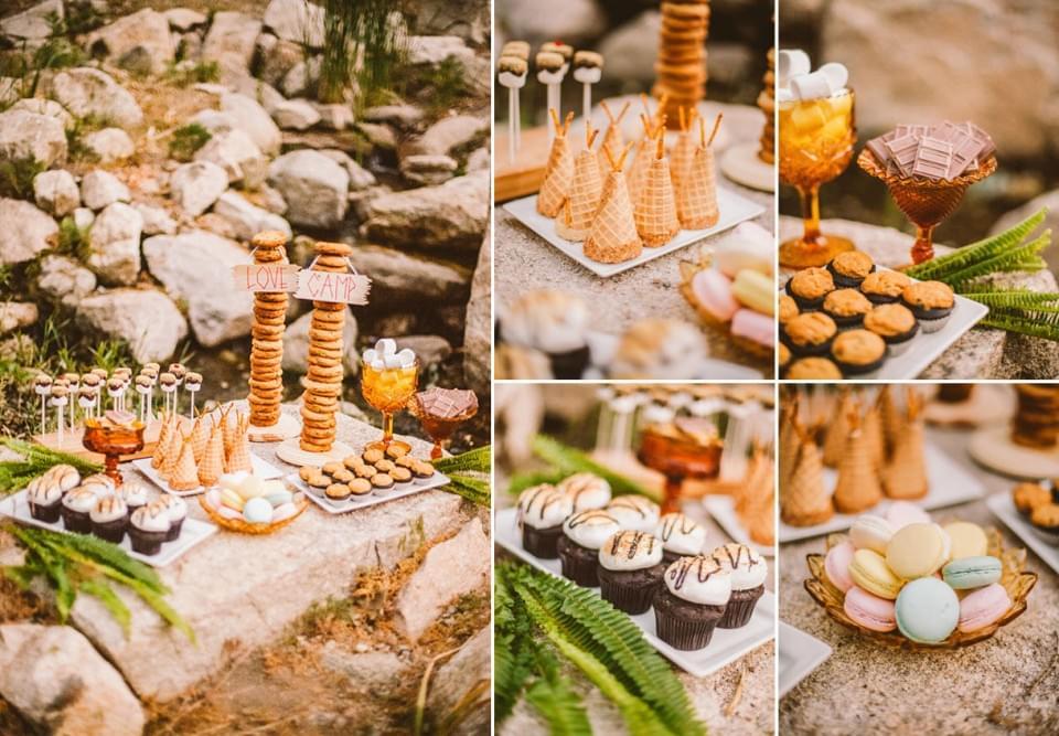 słodki stół na ślub jesienią