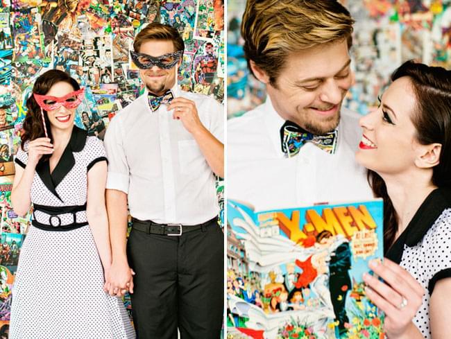 młoda para w komiksowym stylu zdjęcie