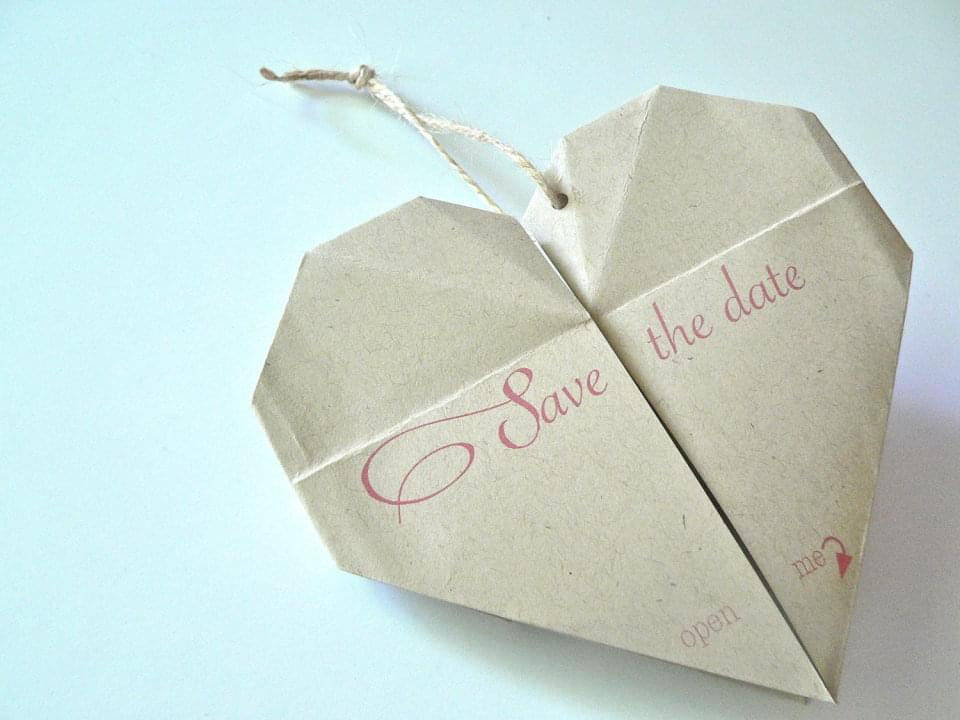 save the date origami zdjecie