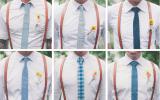 skórzane szelki i niebieskie krawaty