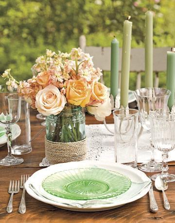 wazon ze słoika dekoracje na wesele 2012