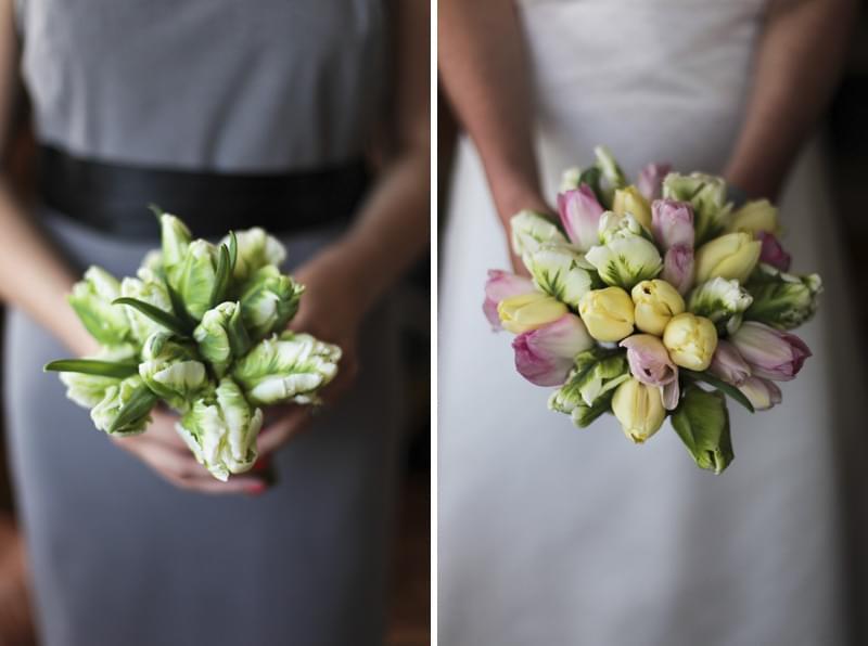 tulipany wiązanka bukiet ślubny 2012