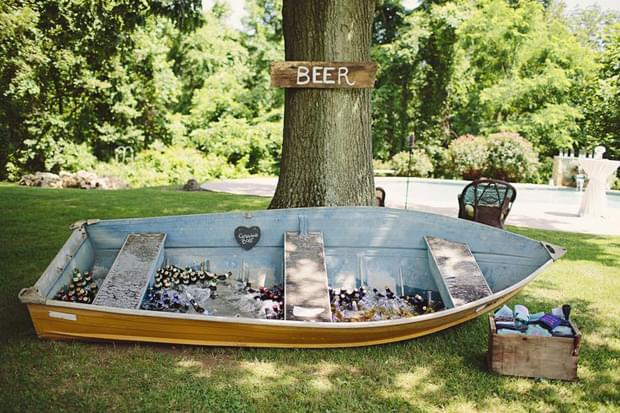 inspiracje bar na wesele łódka nad jeziorem wesele ślub