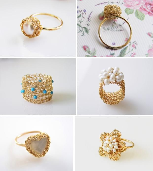 plecione pierścionki zaręczynowe