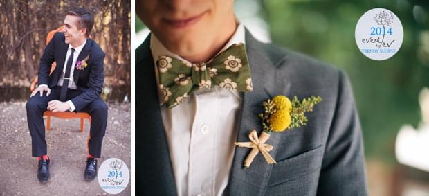 strój pana młodego butonierka ślubna