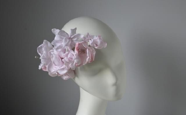 stroik fascynator ślubny kwiaty