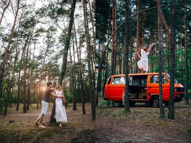 stylizowana sesja narzeczeńska hippie zdjęcie (32)