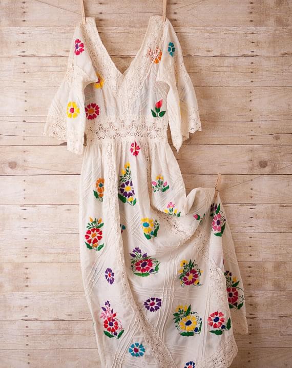 folkowa sukienka do ślubu