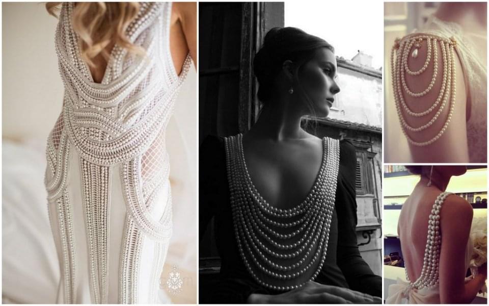 suknia ślubna perły zdjęcie