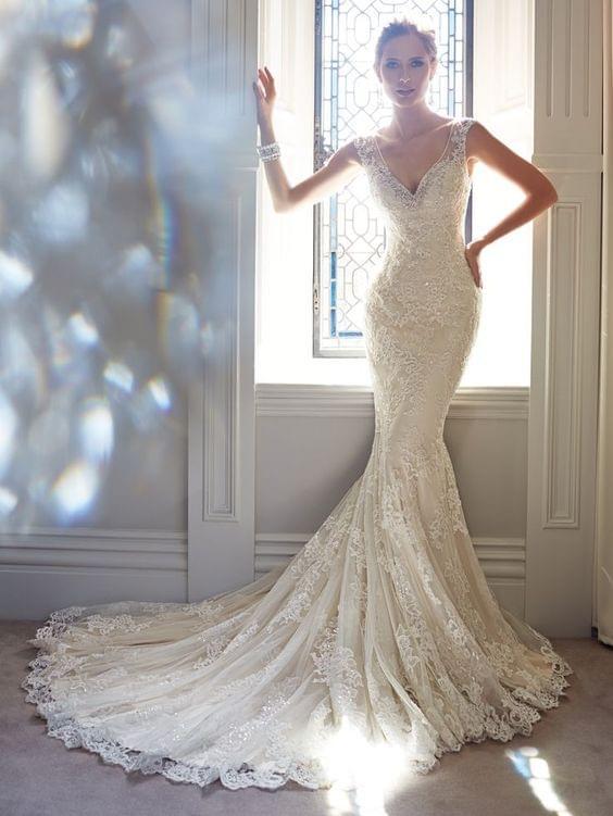 suknia ślubna rybka zdjecie
