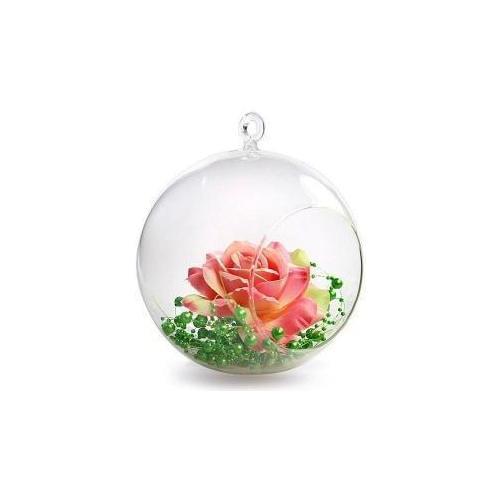 szklana kula bańka do powieszenia wesele dekoracje kwiatowe świeczniki