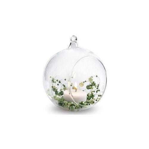 szklana kula bańka do powieszenia wesele dekoracje kwiatowe świecznik