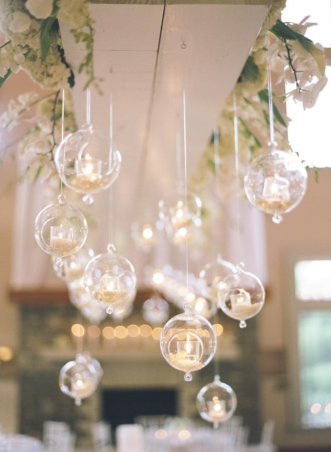 Sweet Wedding Wiszące Dekoracje Szklane Kule Z