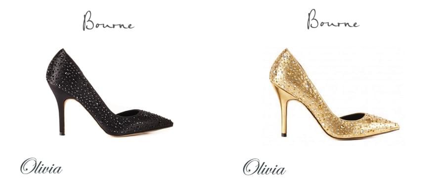 czarne i złote buty ślubne