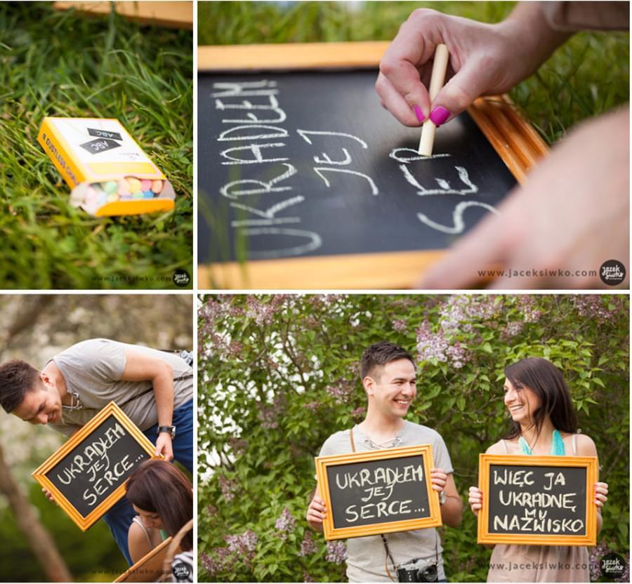tabliczki kredowe wesele diy zdjęcia
