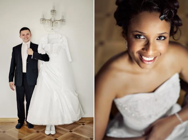 zdjęcia ślubne suknia, portret panny młodej