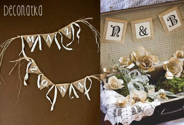 banery ślubne