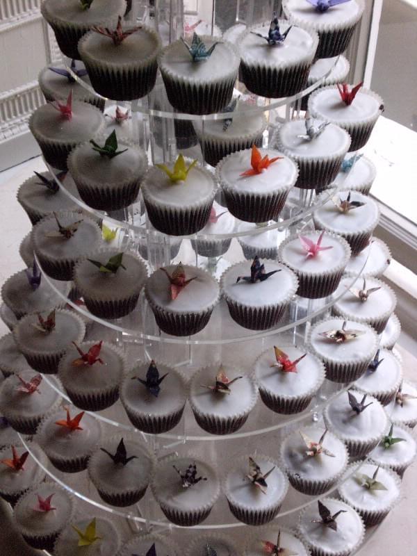 muffinki na wesele_dekoracje origami