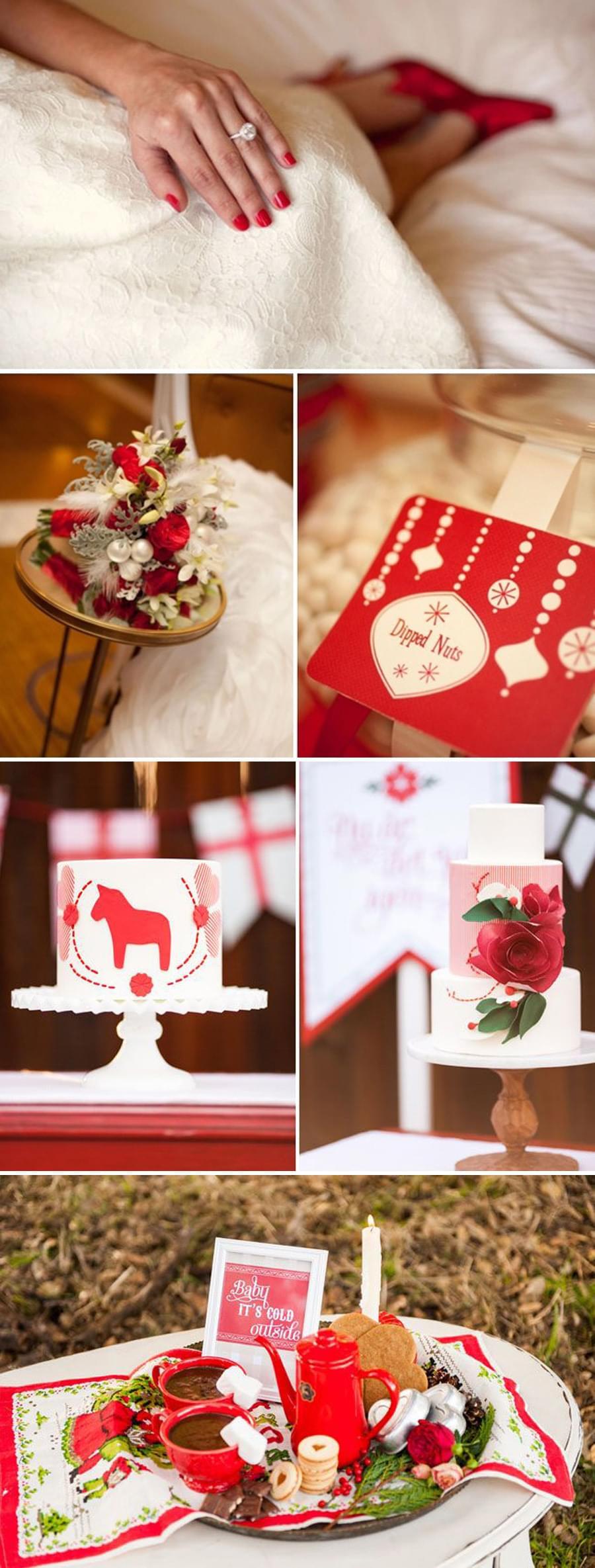wesele ślub w grudniu inspiracje świąteczny