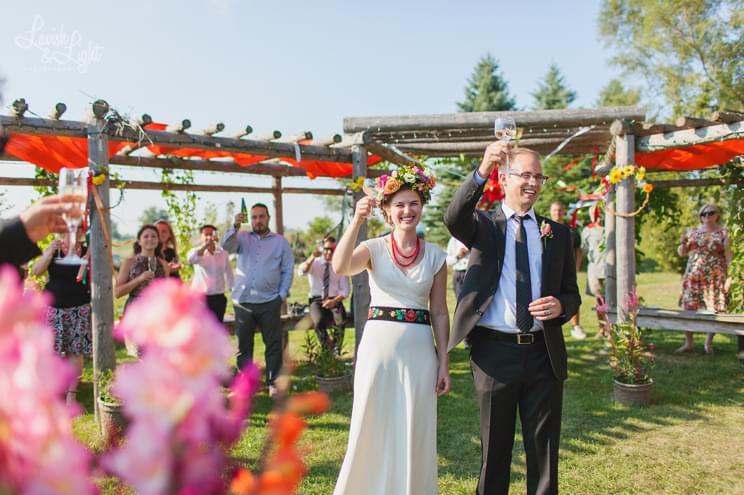 wesele stylizowane folk zdjęcie
