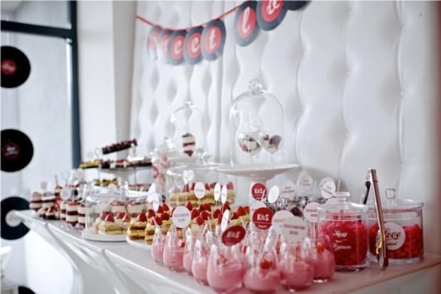 słodki stół bufet na weselu