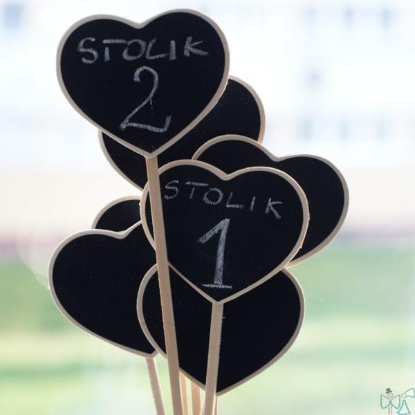 numery na stół numerki na stół kredowe tablice tabliczki wesele dekoracje stołu