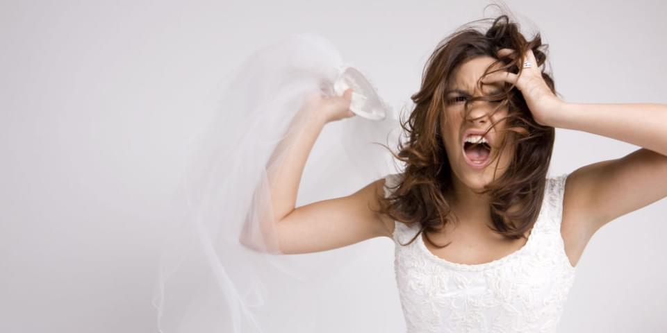 wkurzona panna mloda bridezilla