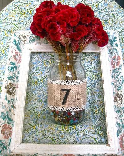 numery na stoły wesele słoiki