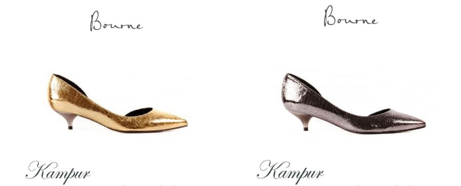 buty ślubne na niskim obcasie złote srebrne