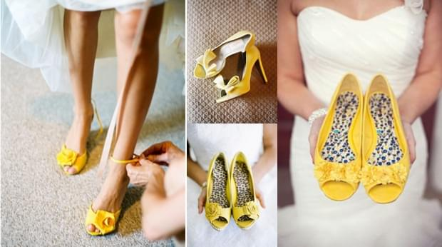 żółte buty slubne