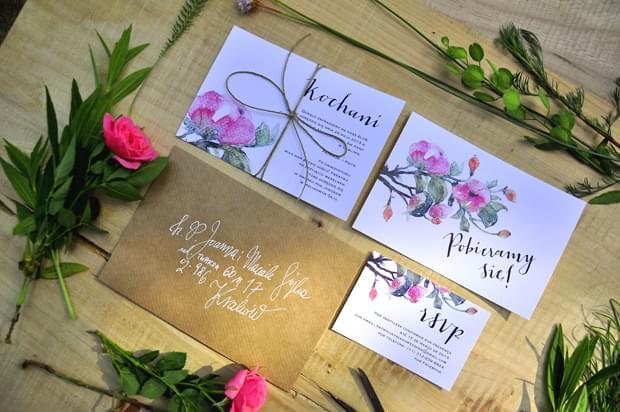 zaproszenia Dzika Róża Love Prints