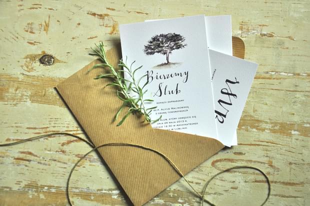 zaproszenia Oliwka drzewko Love Prints