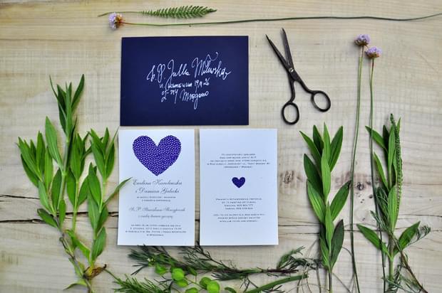 zaproszenia Vintage Chabrowe Love Prints