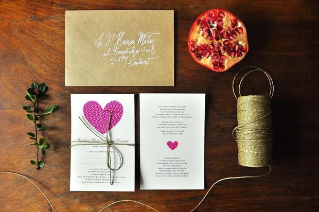 zaproszenia Vintage Czerwone Love Prints