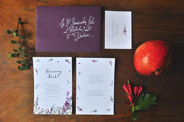 zaproszenia Wrzosy Love Prints