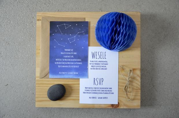 zaproszenia w stylu astronomicznym